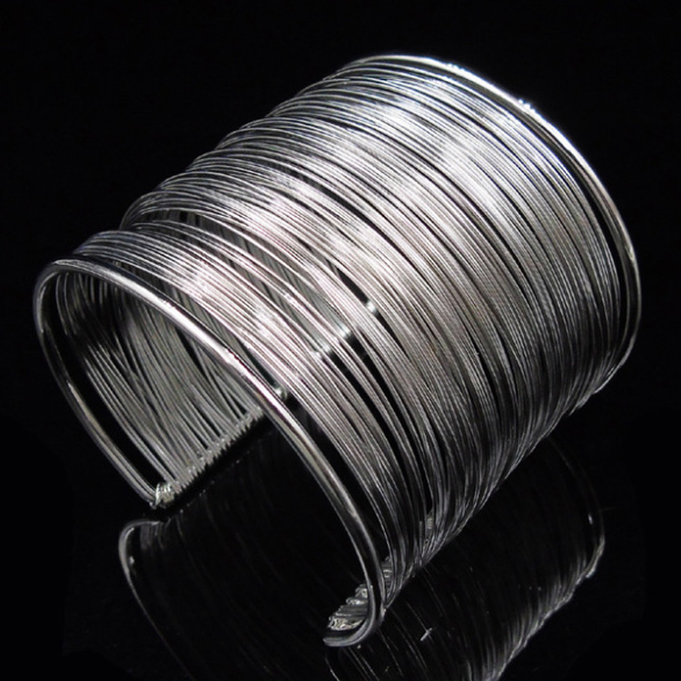 Modern Multilayer Cuff Bangle Bracelets for Parties