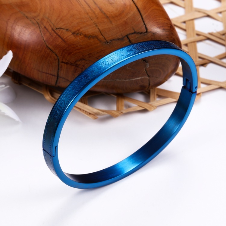 Retro Modern Stainless Steel Clip Bangle Bracelet for Street Style Fashion