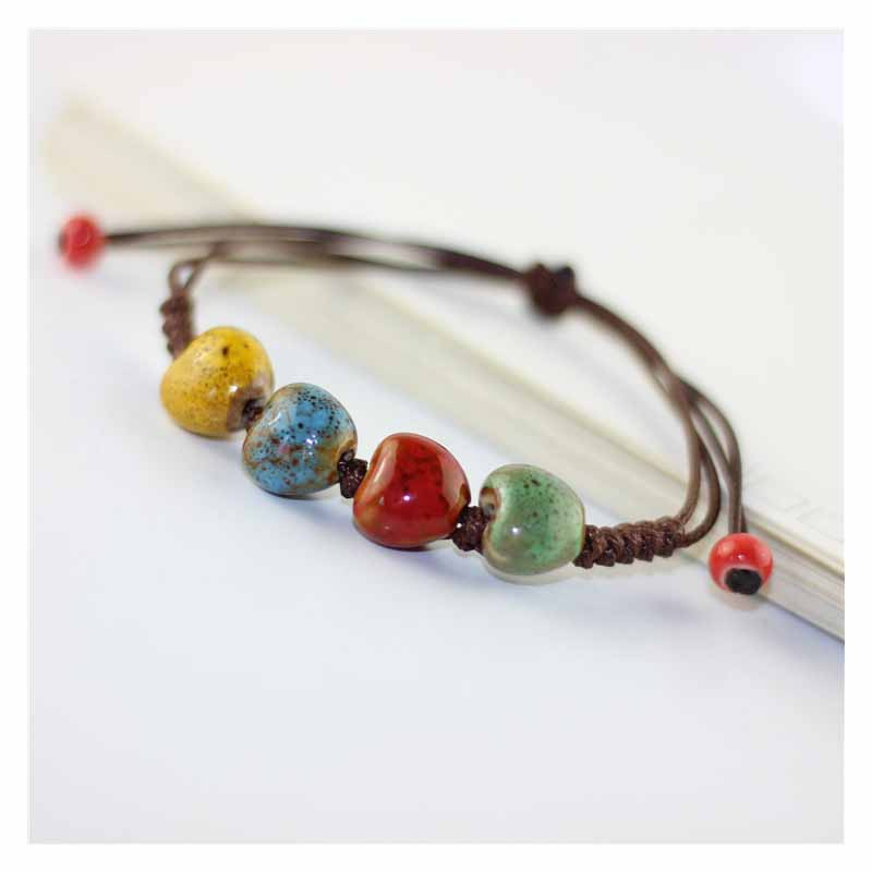 Fashionable Ceramic Ethnic Style Bracelet for Lucky Charm