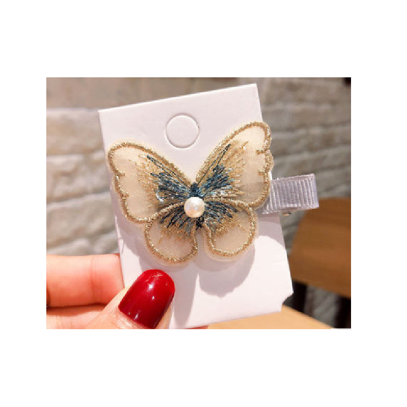 Embroidered Butterfly Hair Clip for Styling Hair