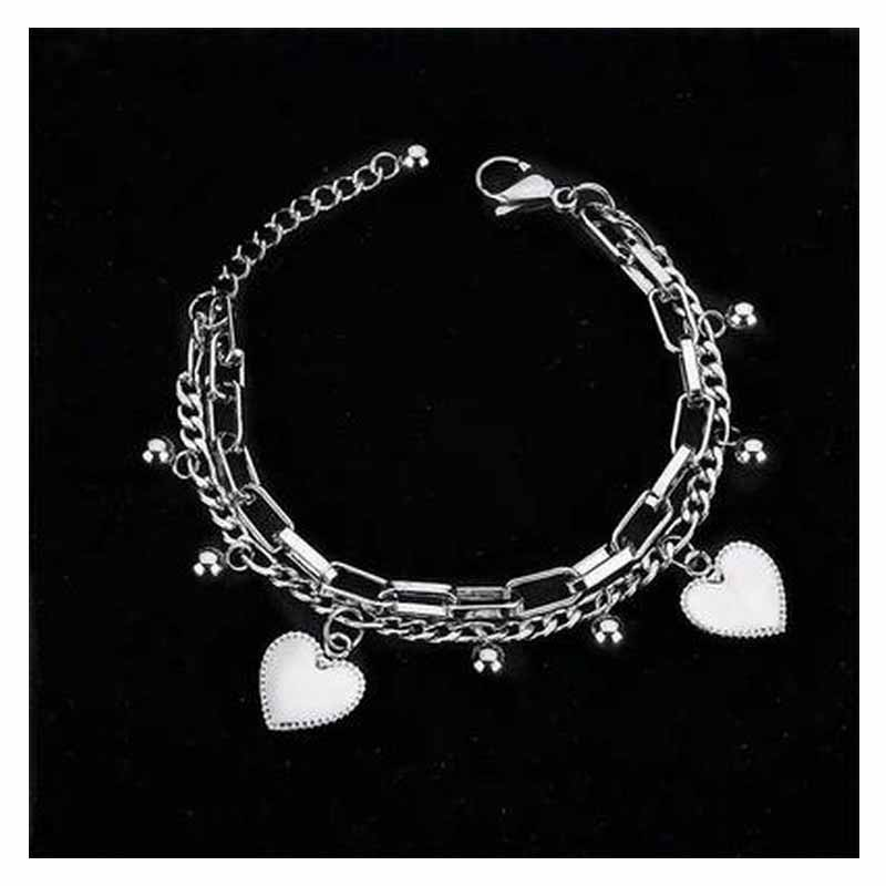 Trendy Double-layer  Hip-hop Bracelet for Performers