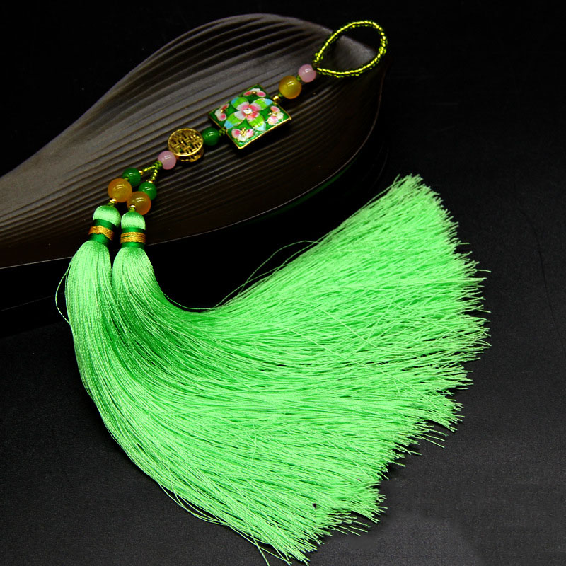 Chartreuse Green Tassel for Hanging on Your Car