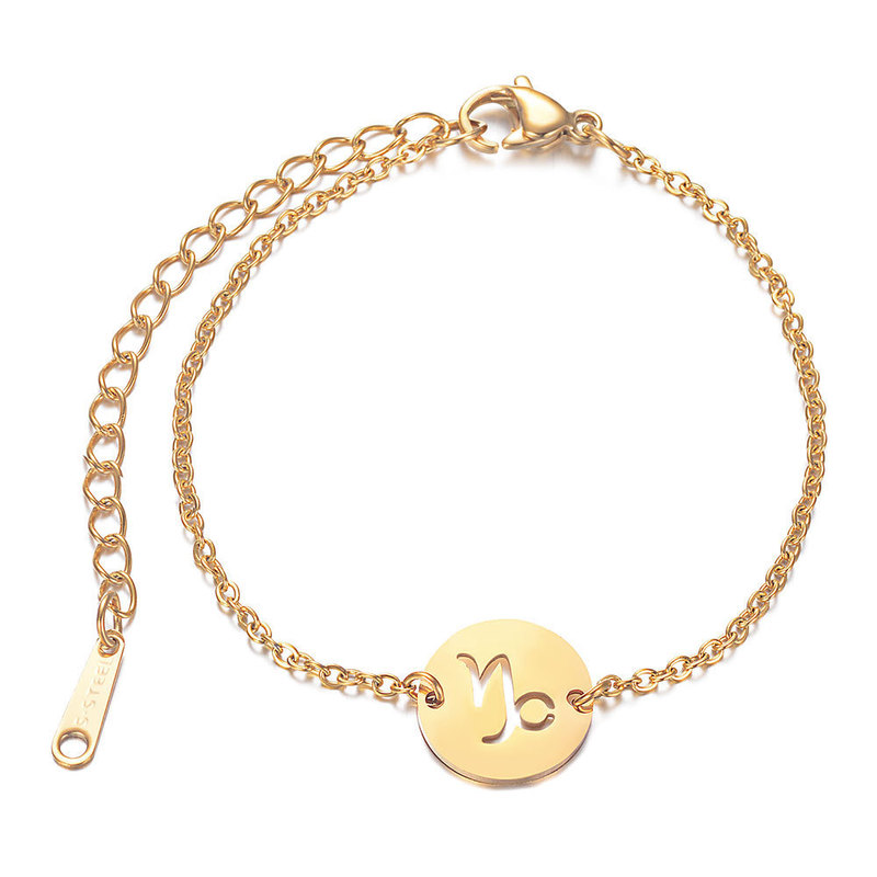 Minimalist Zodiac Pendant Bracelet for Casual Wear