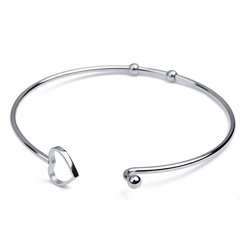 Modern Heart Stainless Steel Bracelet for Casual Wear