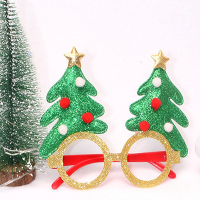 Funny Plastic Christmas-Themed Glasses for Holiday Parties