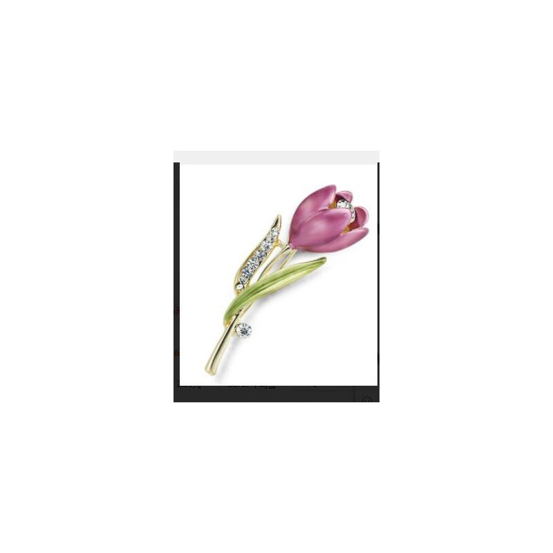 Beautiful Tulip Brooch for Coats