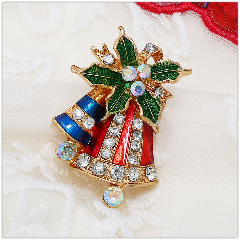 Fine Christmas Bell Brooch for Holiday Parties