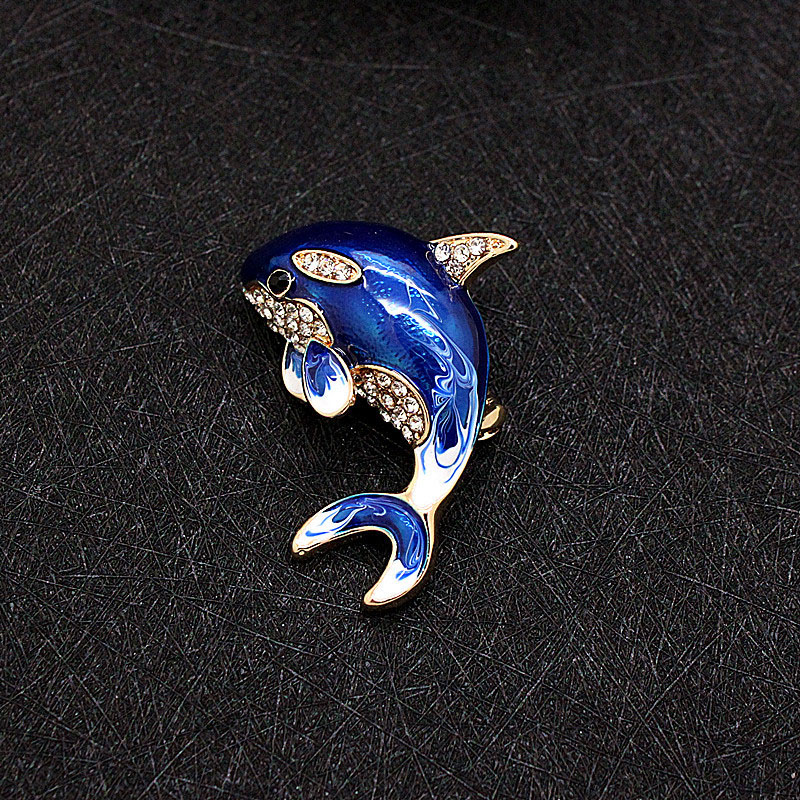 Nautical Dolphin Brooch for Casual Wear