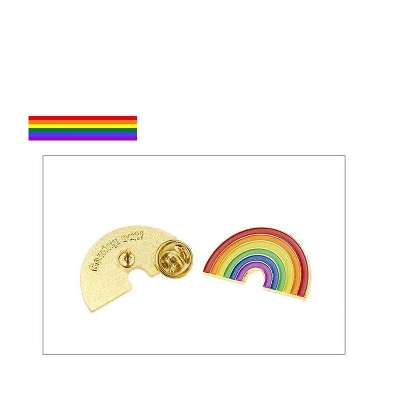 Colorful Rainbow Pin for Bags or Clothes