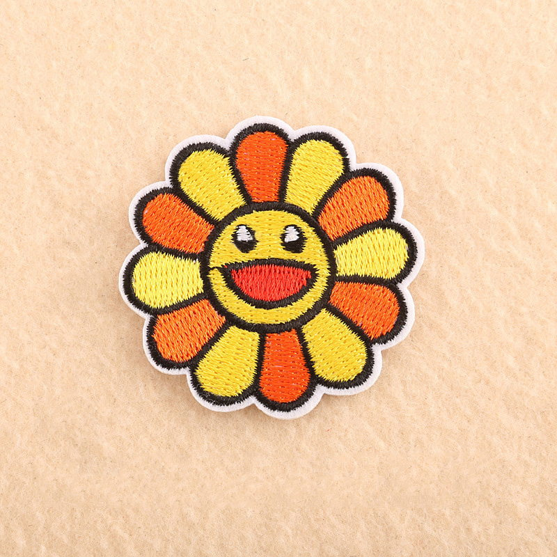 Embroidered Colorful Sunflower Patch for Baby Girls
