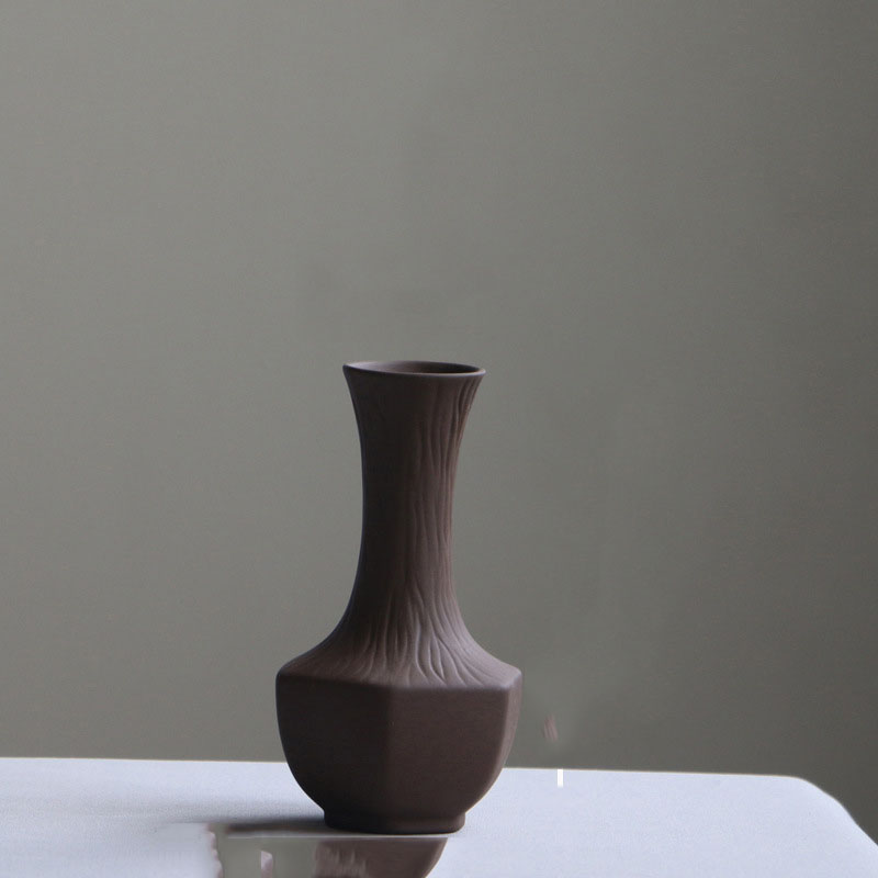 Thick Brown Vase for Coffee Shops