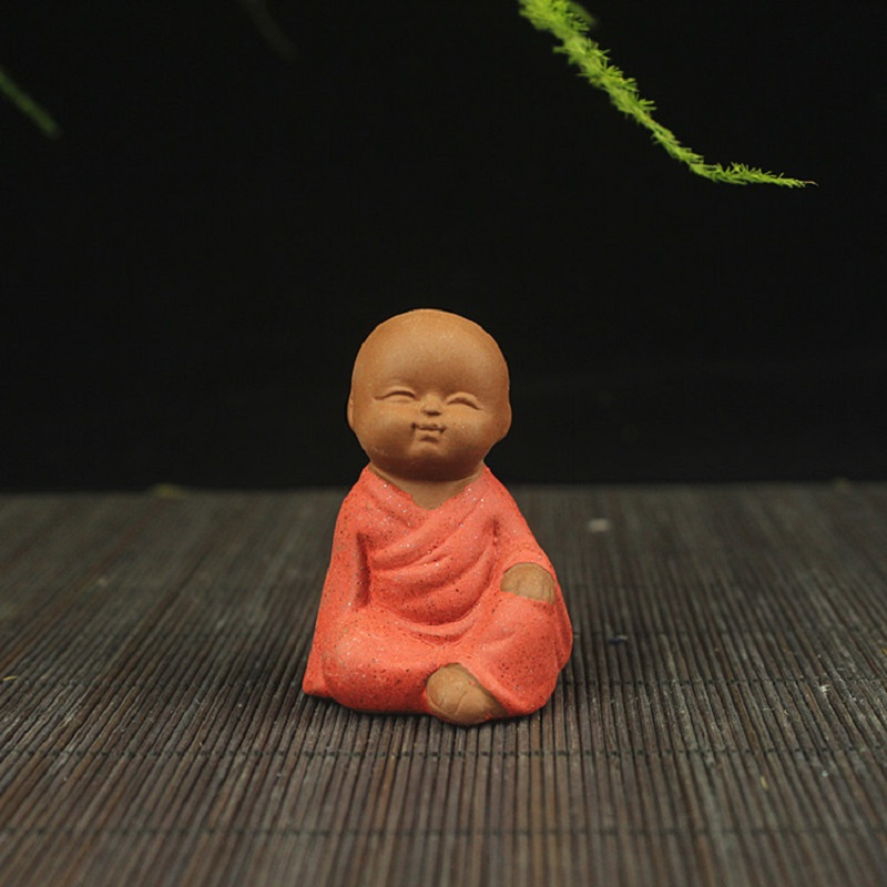 Cute Little Monks Figurine for Landscaping or Decor