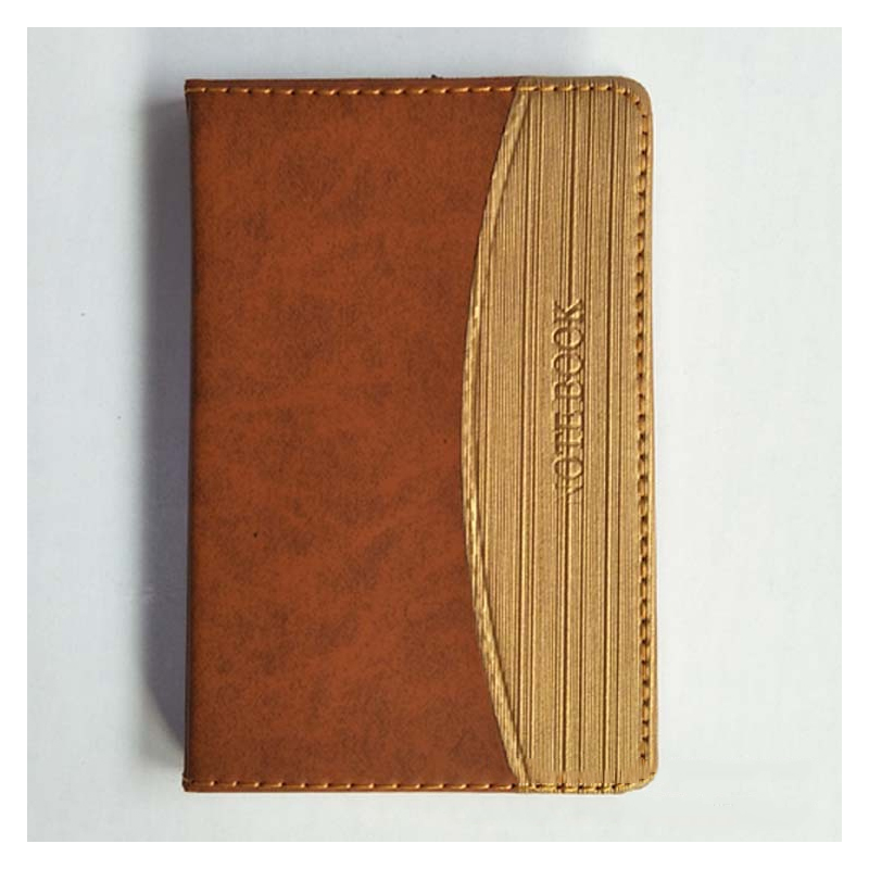 Brown Faux Leather Notebook for Meetings