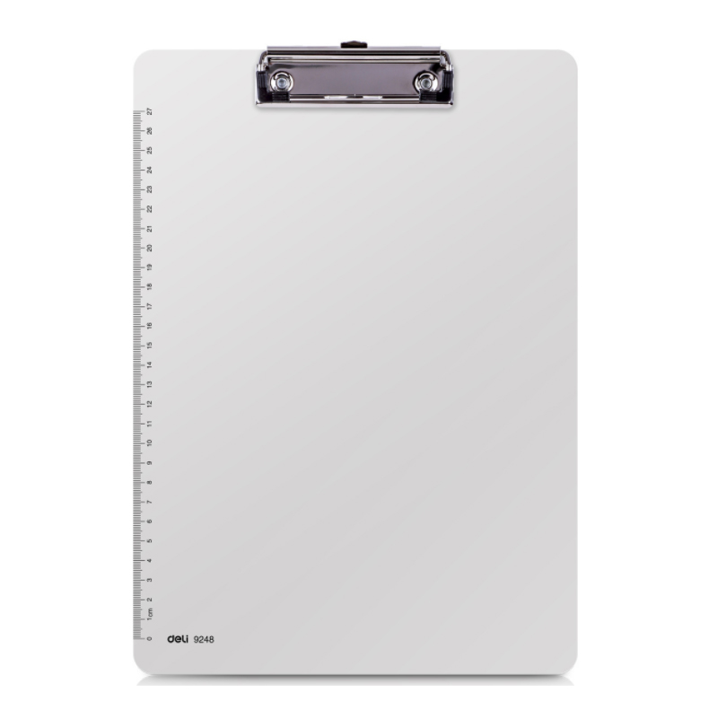 White Writing Board with Clip for Office Purposes