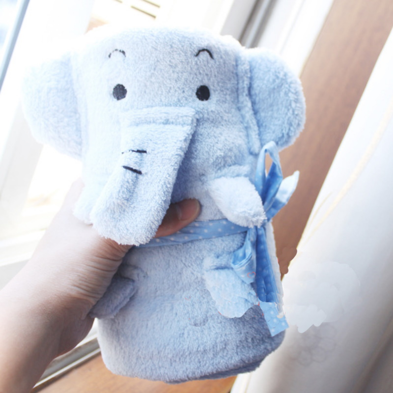 Elephant and Bunny Portable Blanket for Quick Naps
