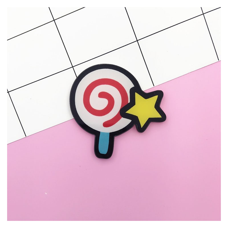 Yummy Acrylic Foodie Pin for Bags and Jackets