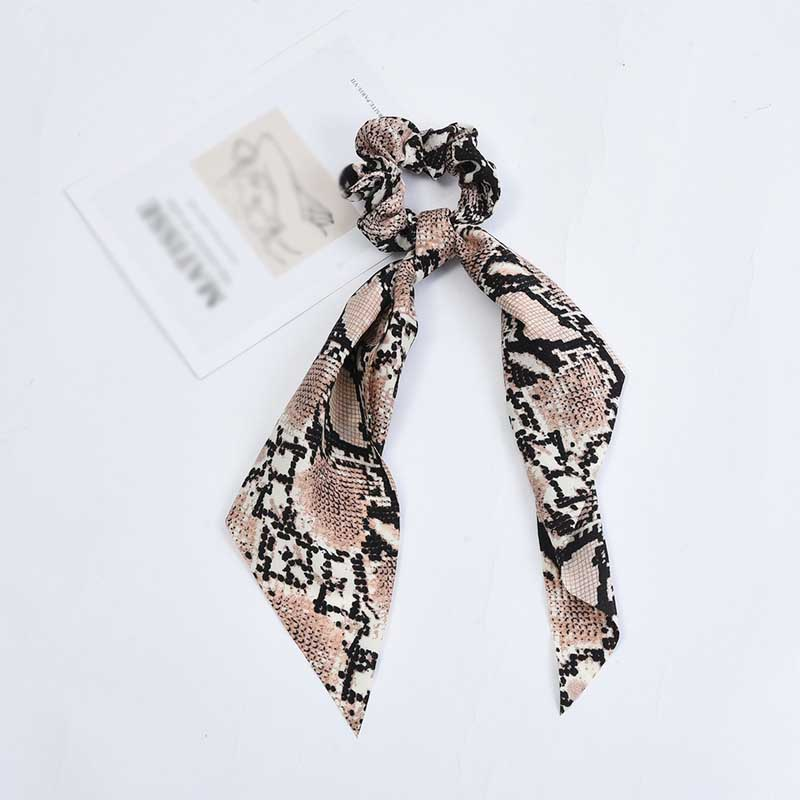Striped and Animal Printed Knotted Scrunchies for Creative Hair Styling