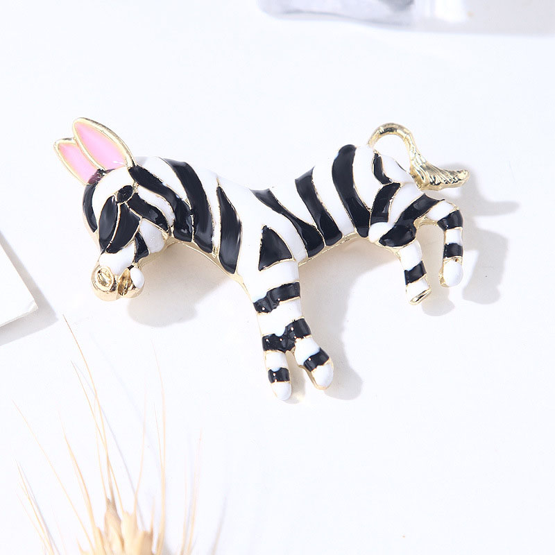 Cute Zebra Brooch for Casual Wear