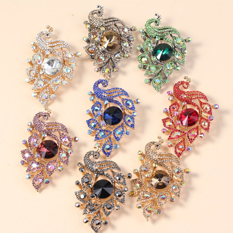 Luxurious Peacock Brooch for Elegant Dresses