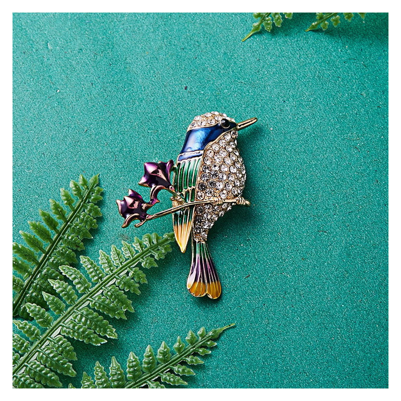 Lovely Hummingbird Brooch for Coats