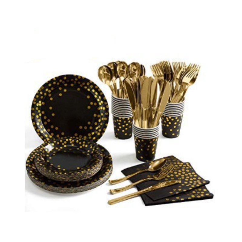 Polka Dot Party Tableware for Fashionable Party