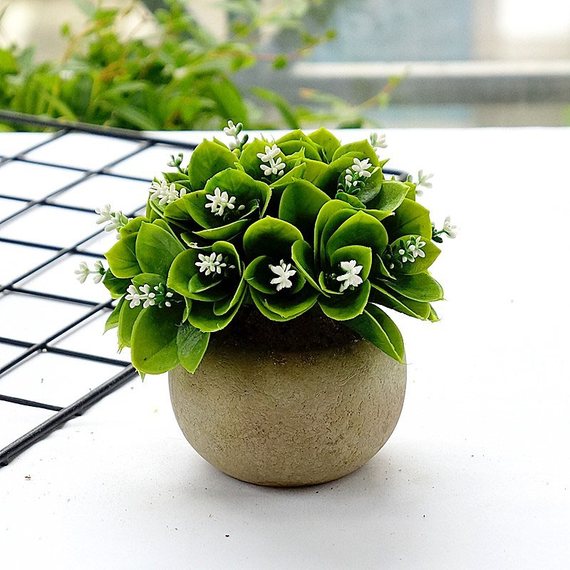 Artificial Green Mini Plants for Photography Props