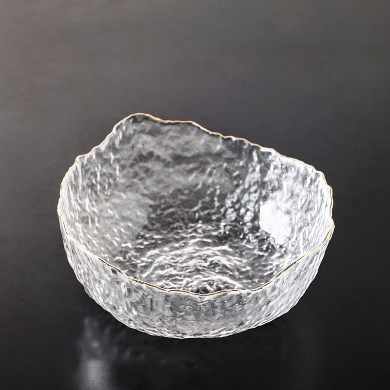 Luxurious Glass Water-Design Bowl for Fruits or Decor