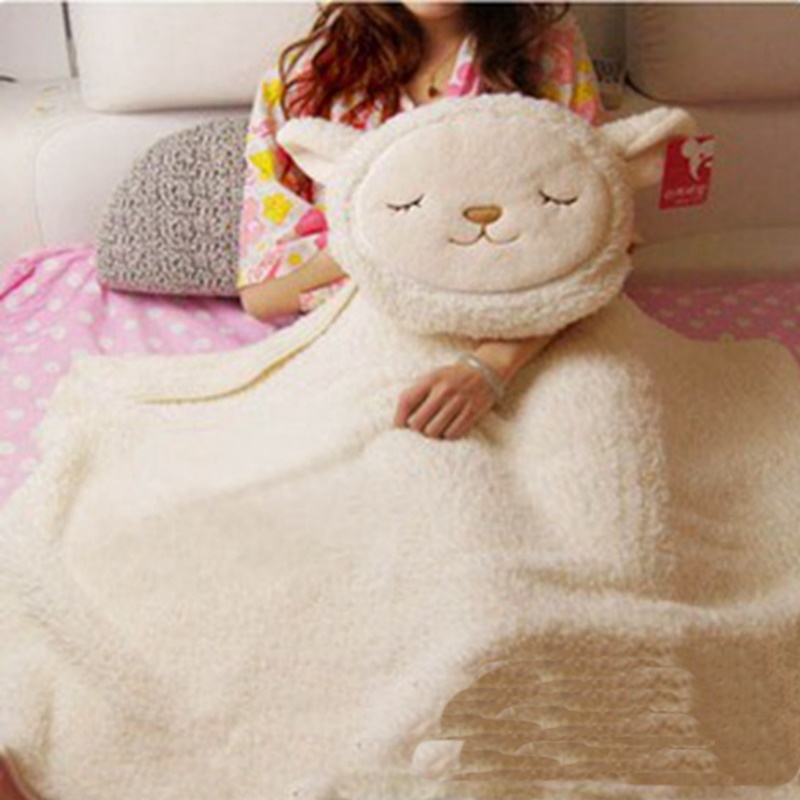 Dolly Lamb Fleece Blanket with Pillow for Sleeping
