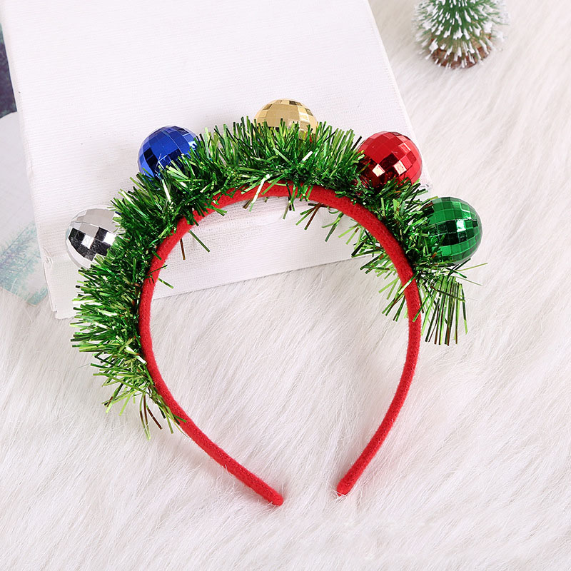 Free-Spirited Tinsel and Disco Balls Headband for Funny Parties