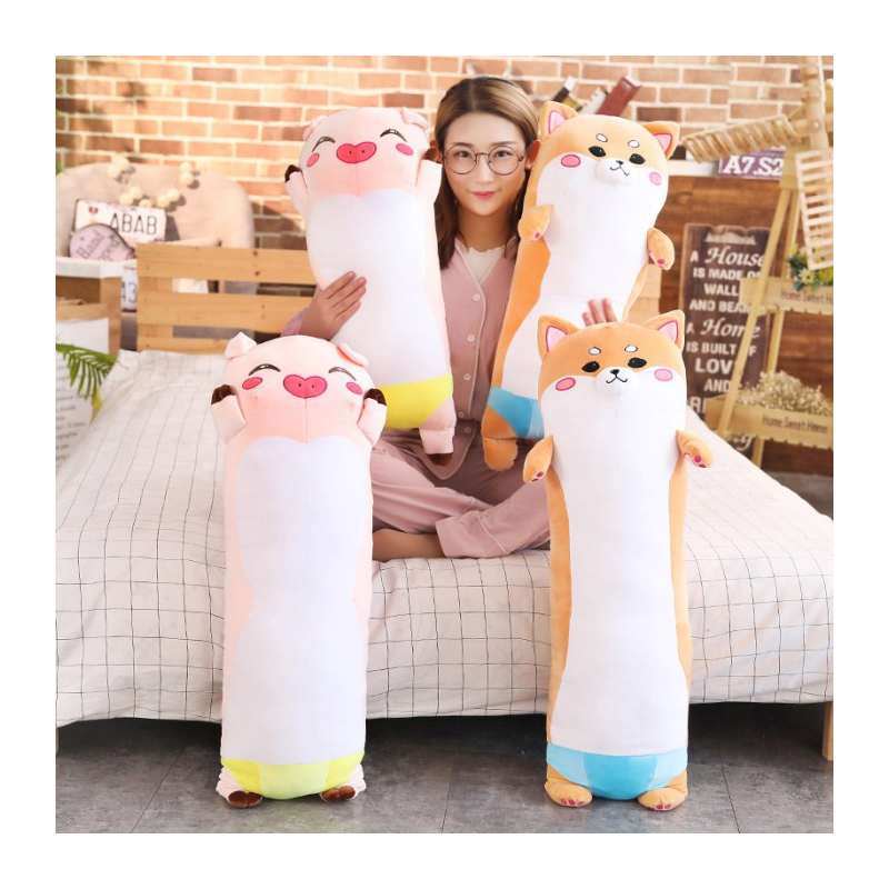 Cuddly Bolster-Shaped Animal Plushies for a Good Night's Sleep
