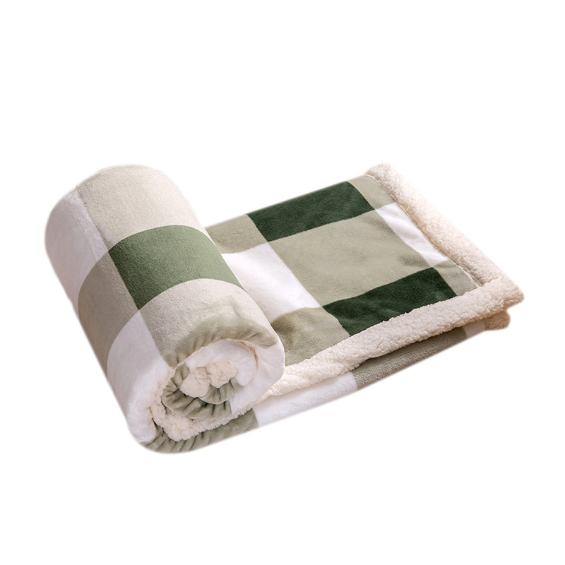 Color and White Plaid Polyester Blankets for Comfortable Rest