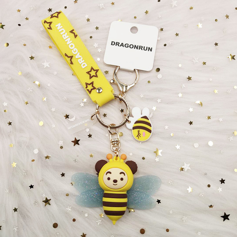 Adorable Bee Designed Keychain for Gift