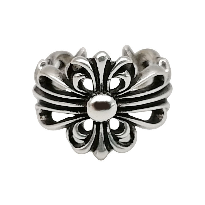 Dark Silver Chain Imitation Rings for Vintage Looks