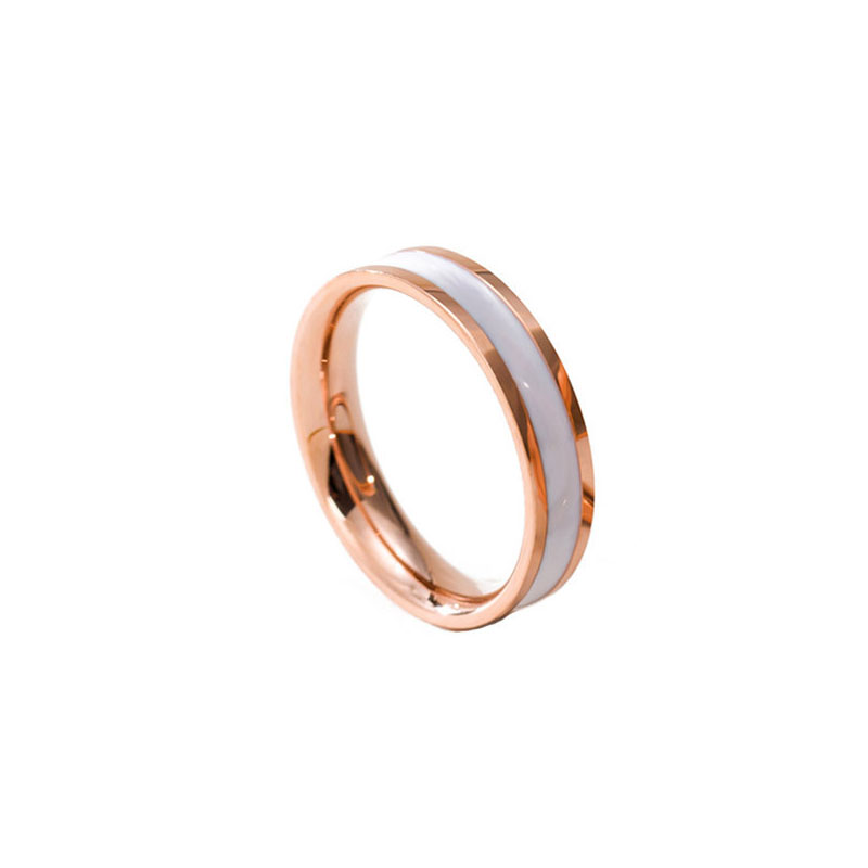 Simple Stripe Stainless Steel Ring for Modish Looks