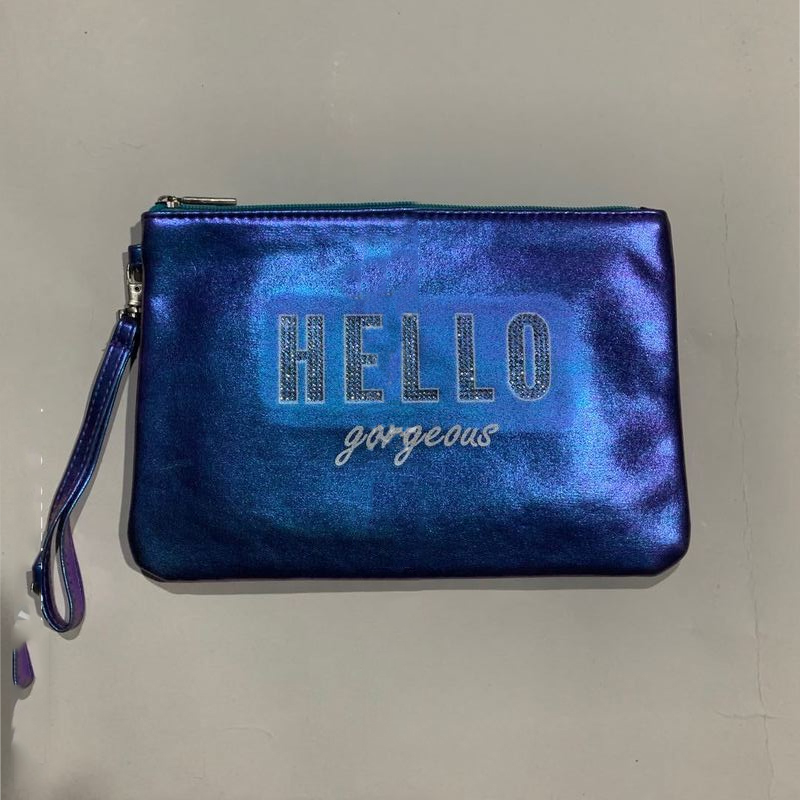 """""""Hello Gorgeous"""" Iridescent Wrist Bag for Teenagers"""
