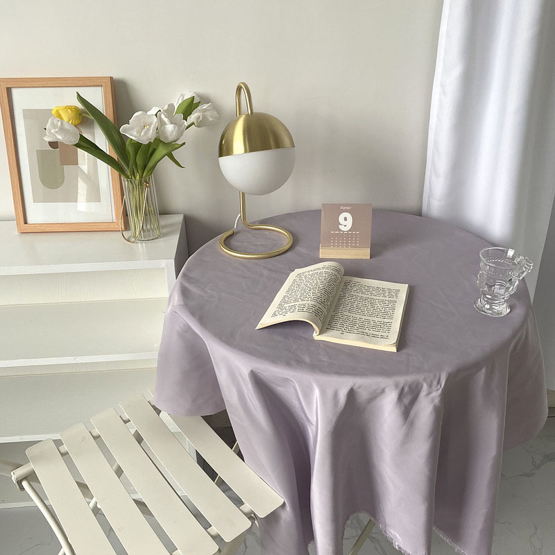 Satin Plain Tablecloth for Round Tables