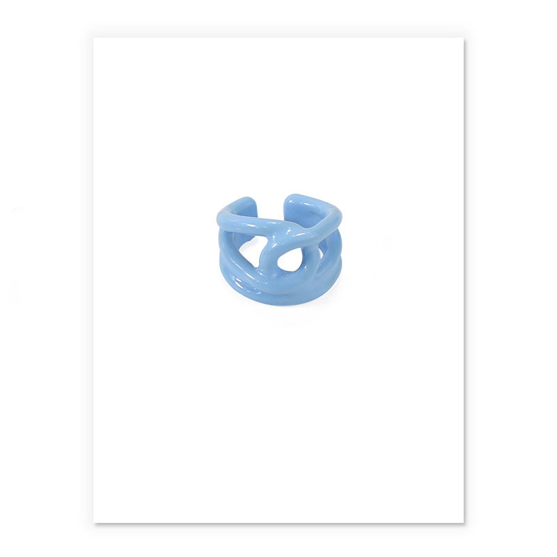 Bright Pastel Hues Plated Brass Rings for Creative Looks