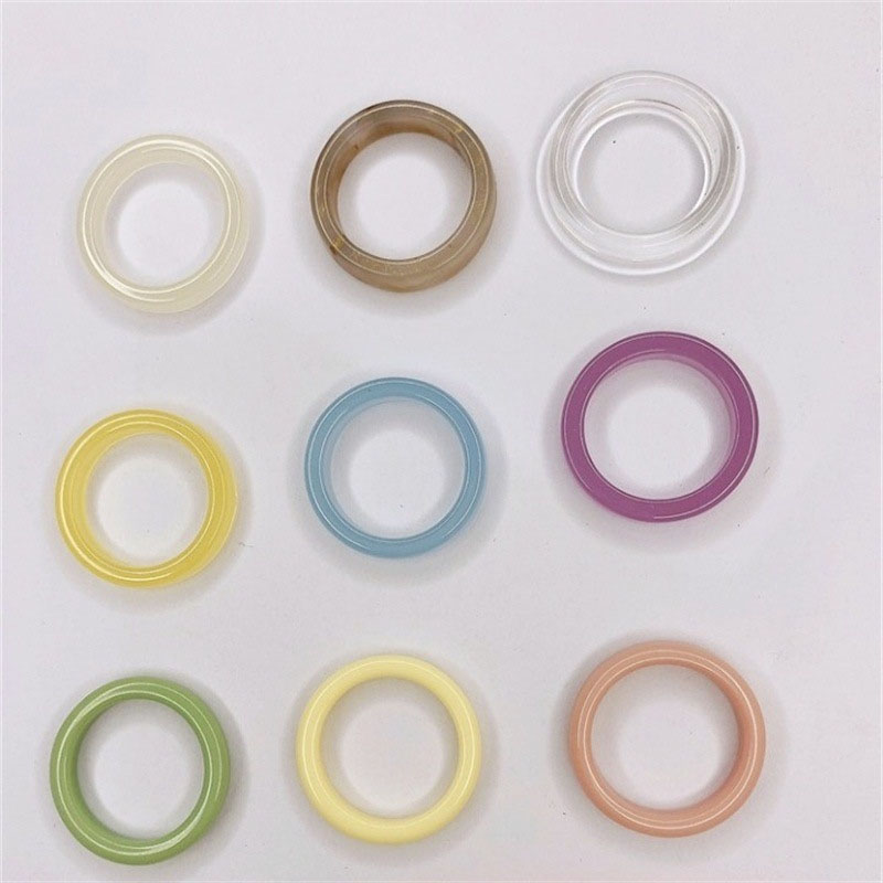 Colored Resin Rings for Kids' Use
