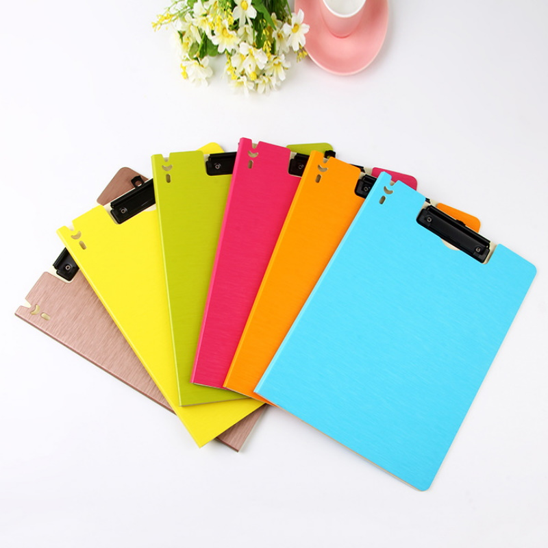 Colored Plastic Clip Board for Organizing Files