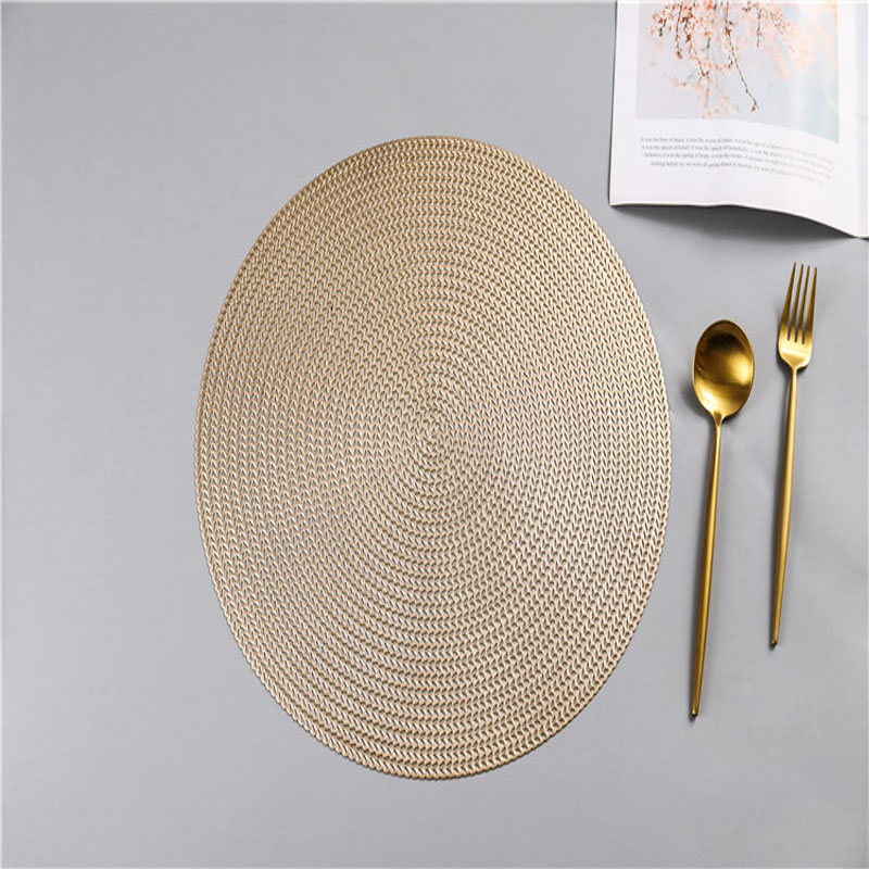Metallic Round PVC Placemat for Stylish Table Setting
