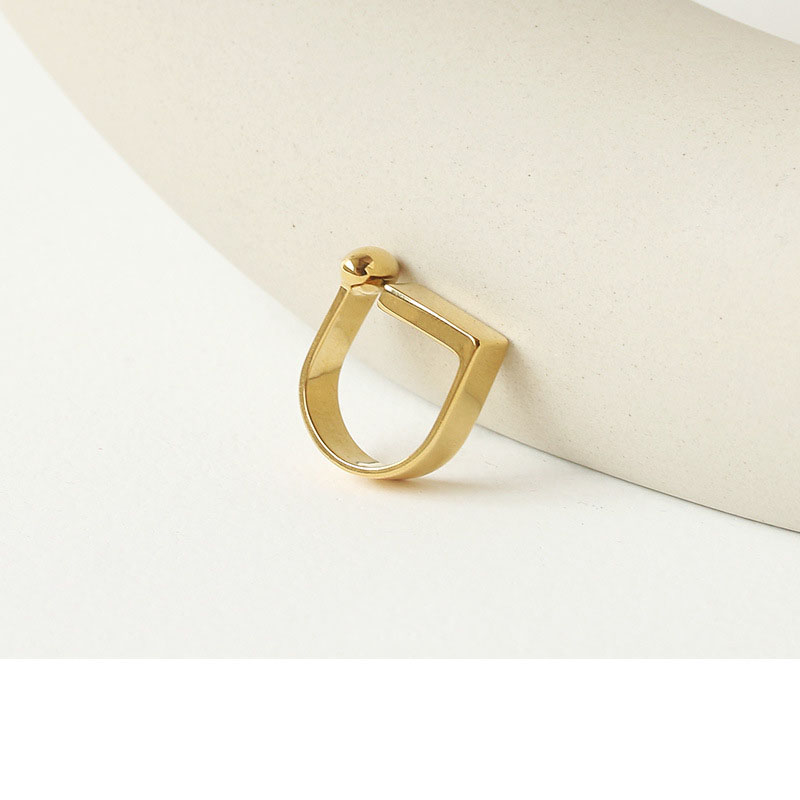 Geometric Edges and Curves Abstract Ring for Unique Modern Looks