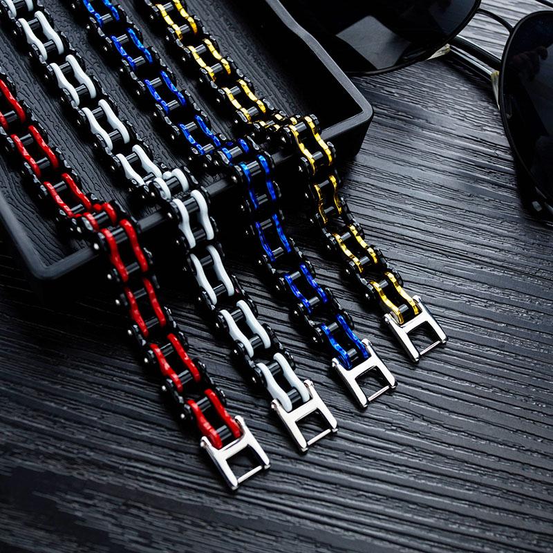 Unique Stainless Steel Chainlink Bracelet for Casual Wear