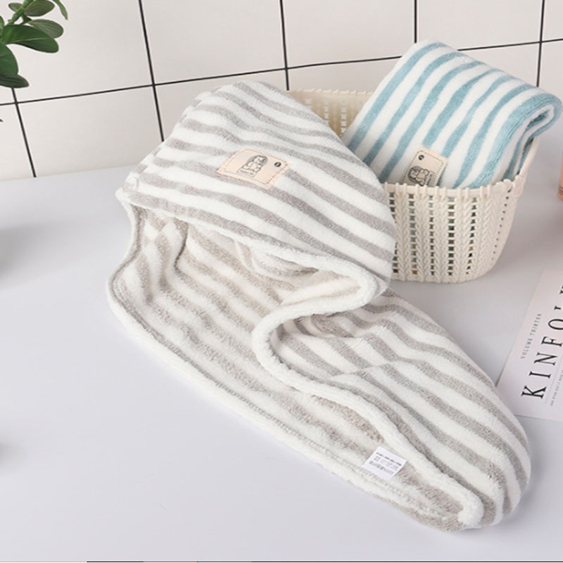 Simple Striped Towel for Hair