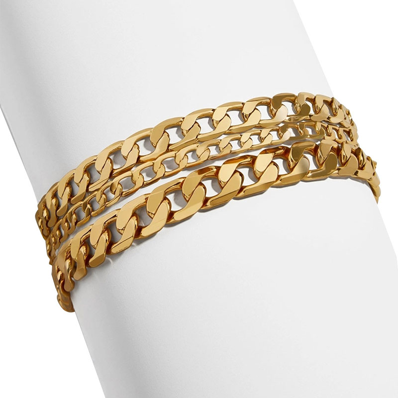 Coveted Chunky Chains Bracelet for Trendy Hip-Hop Looks
