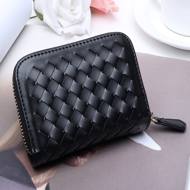 Mesmerizing Woven Pattern Wallet for Convenient Card Storage