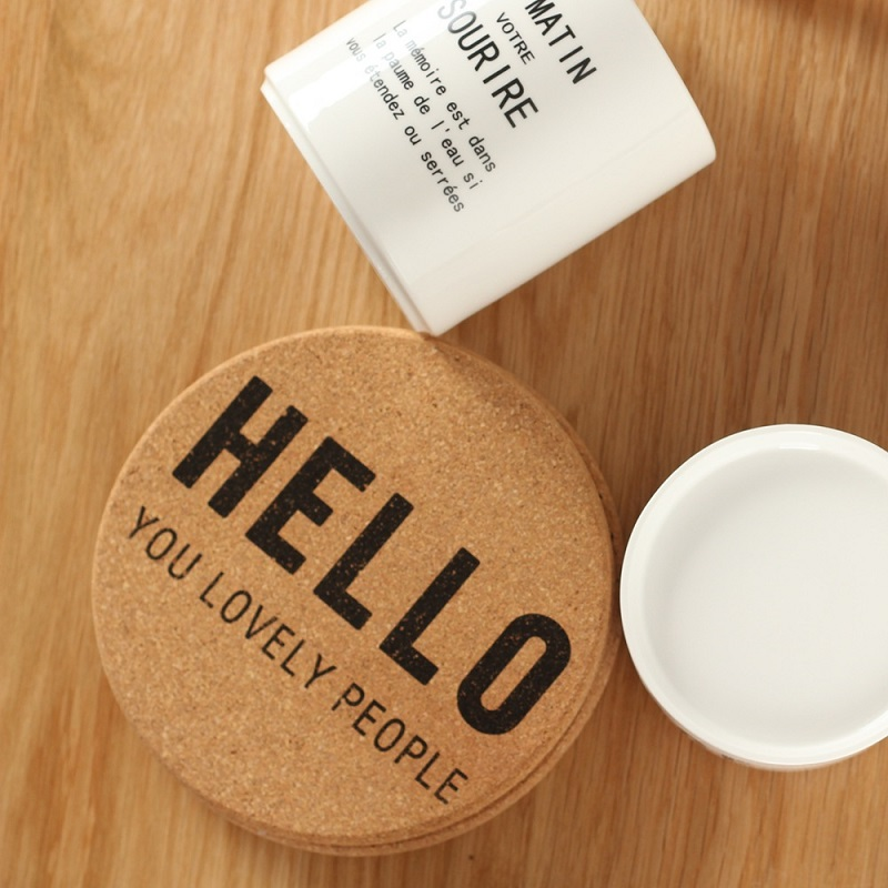 Fun Printed Cork Coasters for Classic Kitchens