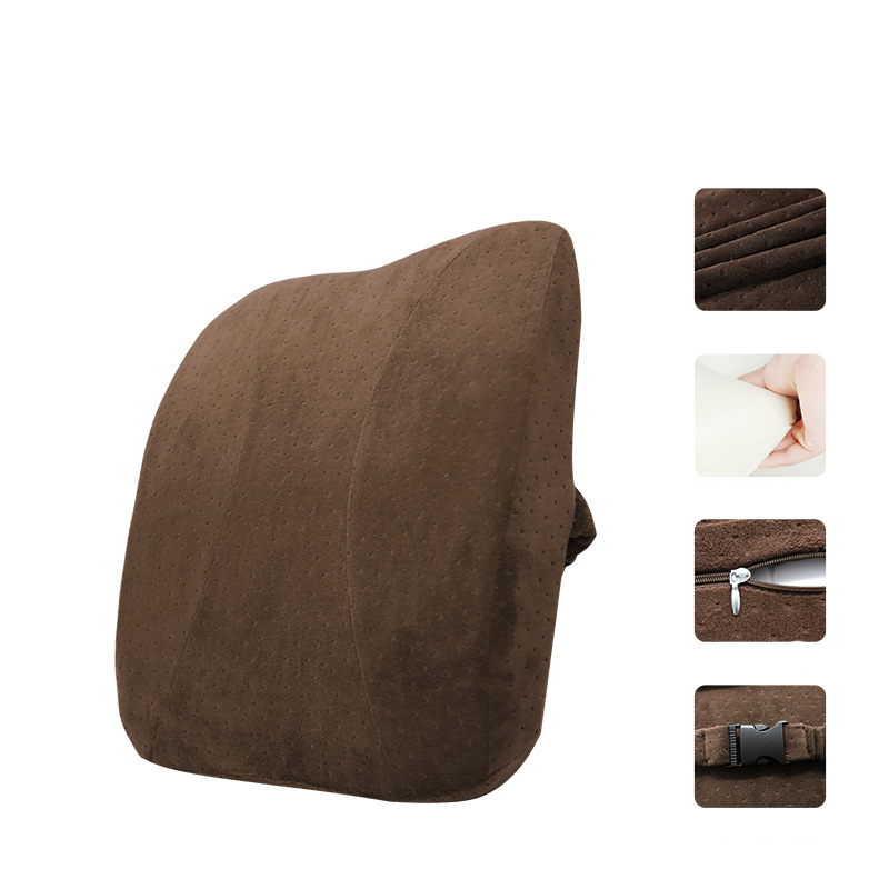 Soft Memory Foam Lumbar Backrest with Strap Buckle for Chairs and Back Pain