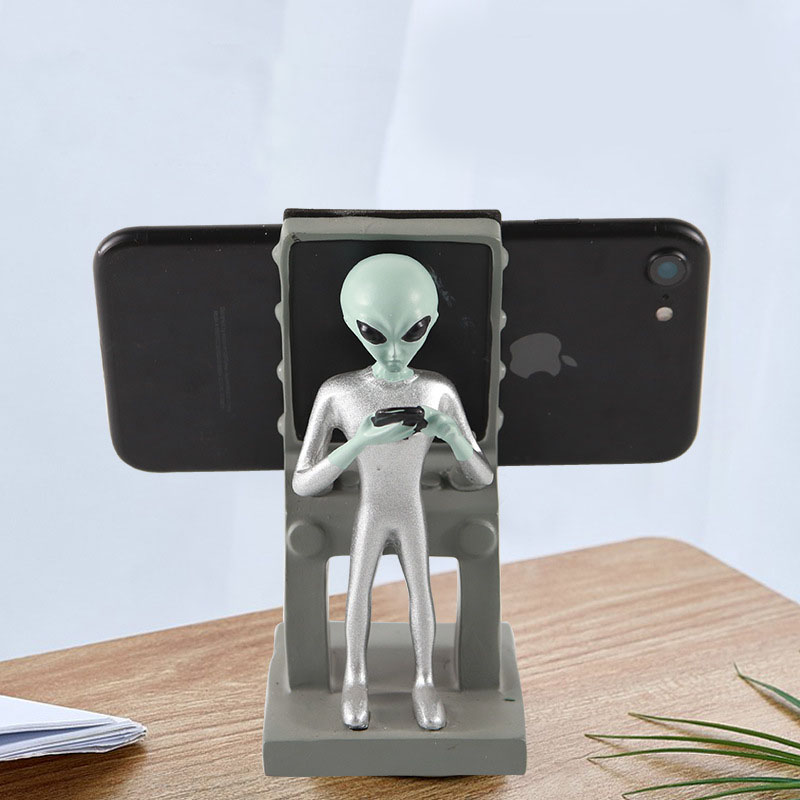 Otherworldly Alien Phone Stand for Any Mobile Model
