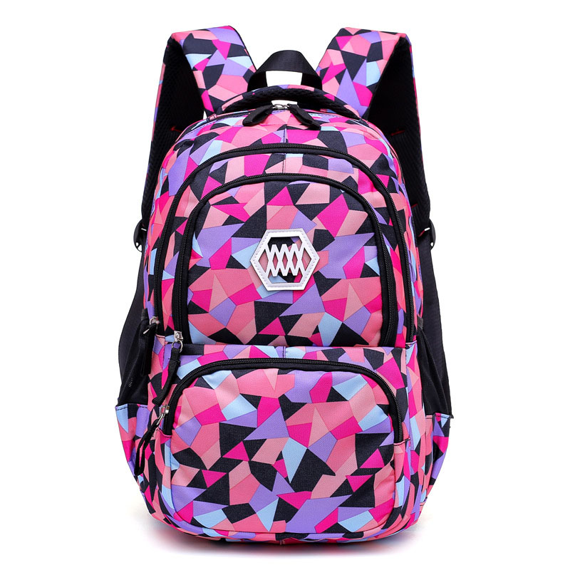 Abstract Art Tri-Tone Shapes Backpack for Durable Hold on Books and Notebooks