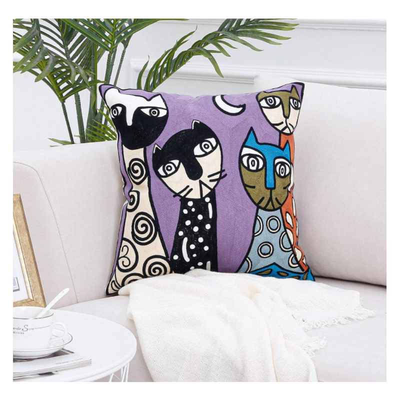Comfy Abstract Designed Throw Pillow for Gift